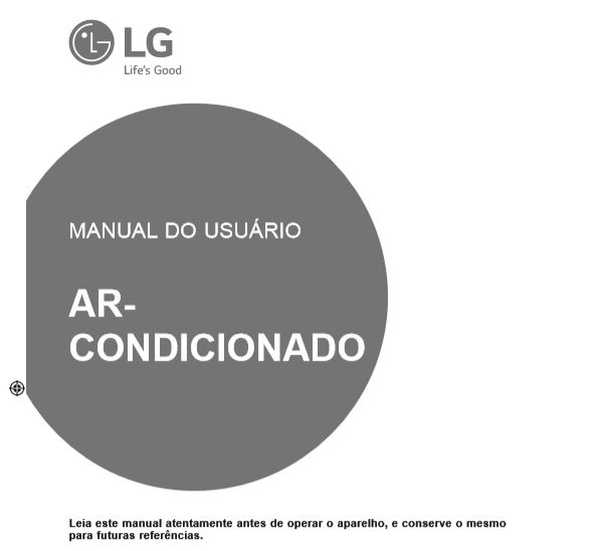 Ar condicionado LG Dual Inverter - capa manual