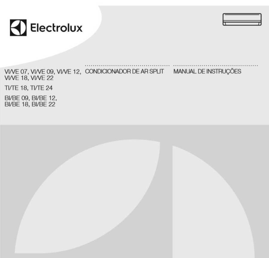 Ar condicionado Electrolux - VI-Ve12F - capa manual