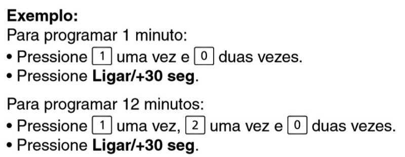 Microondas Panasonic ST27J - ajuste tempo