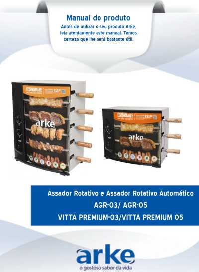 Churrasqueira Arke - capa manual