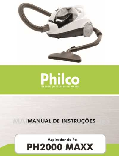 Aspirador de pó Philco - capa manual