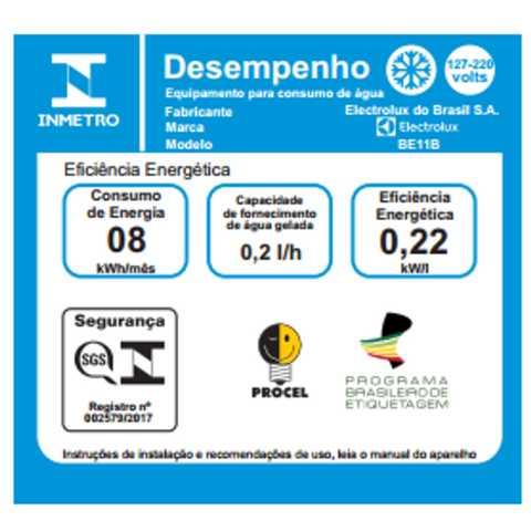 Bebedouro de água Electrolux BE11B - selo inmetro