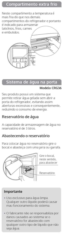 Geladeira Consul CRB39 - componentes 2