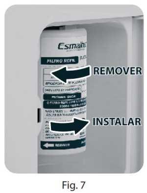 Purificador de água Esmaltec Acqua7 - troca filtro