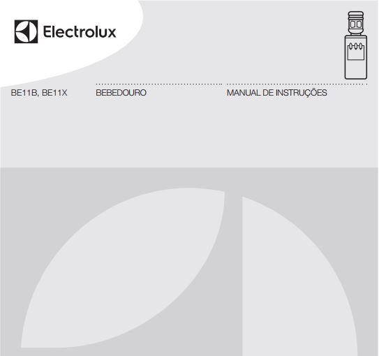 Bebedouro de água Electrolux - capa manual
