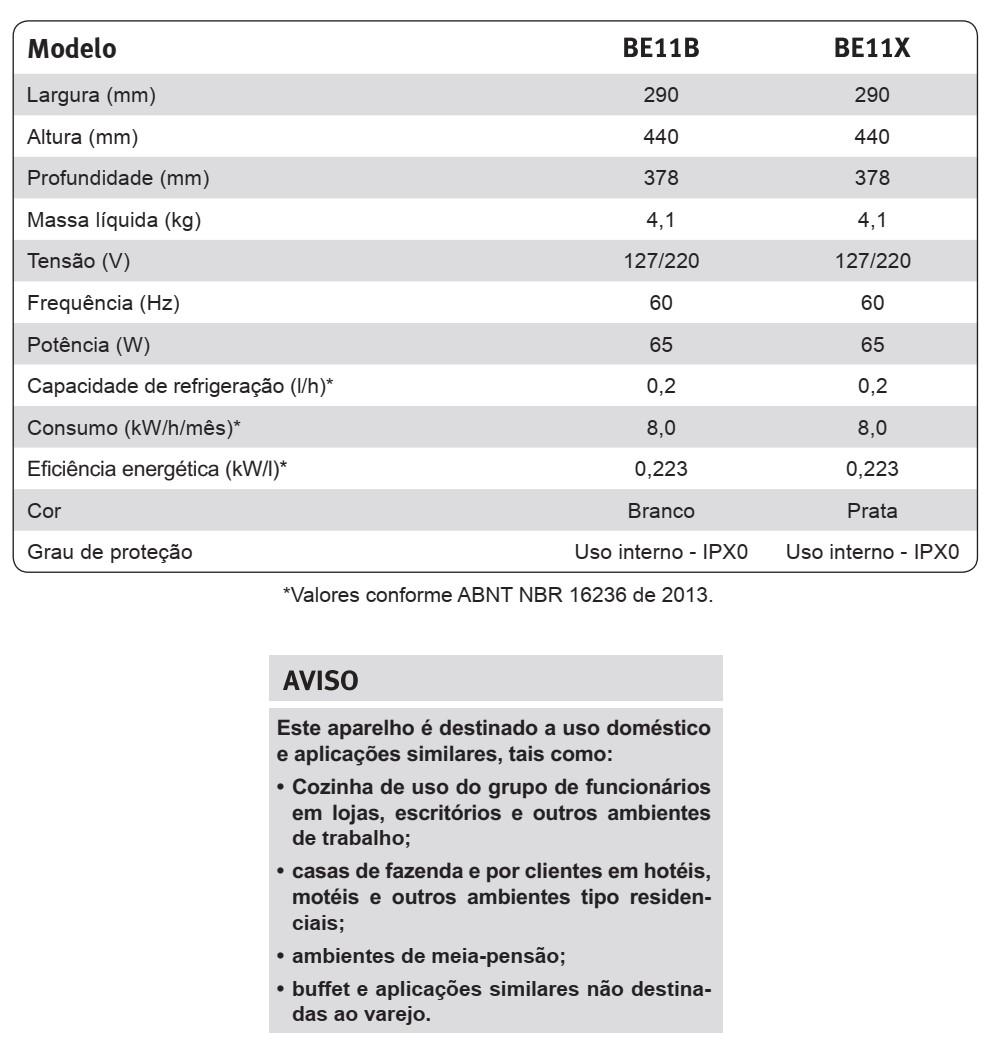 Bebedouro de água Electrolux - BE11X