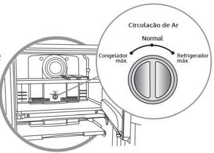 Geladeira Consul CRB36 - Regulador de ar