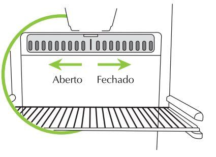 Geladeira Consul CRD48 - Regulador de ar
