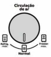 Geladeira Consul CRM38 - Regulador de ar