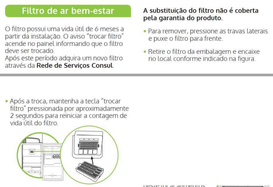 Geladeira Consul CRM55 - componentes