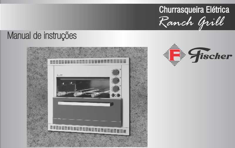 Churrasqueira elétrica Fischer - capa manual