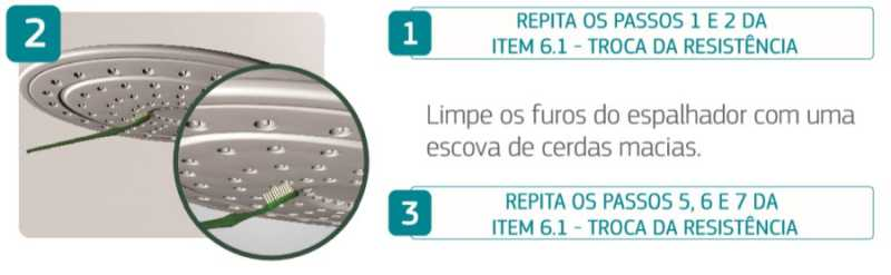Ducha Corona Optima Eletrônica - limpeza do espalhador