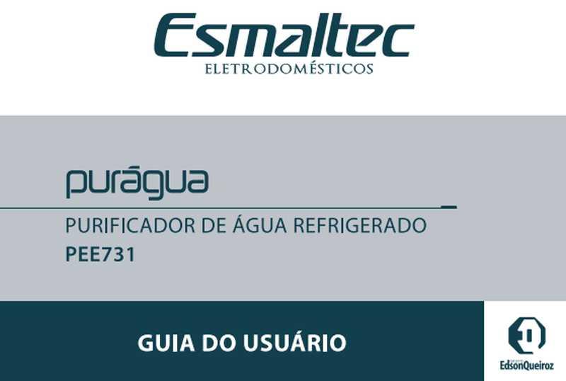 Purificador de água Esmaltec - capa manual