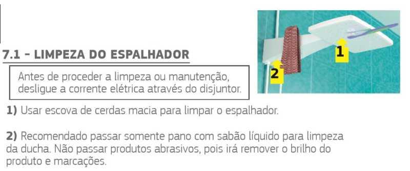 Ducha Corona Quadratta Max Eletrônica - limpeza do espalhador