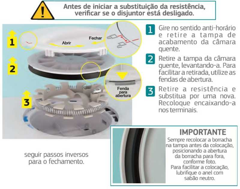 Ducha Corona Safira Digital - troca resistência