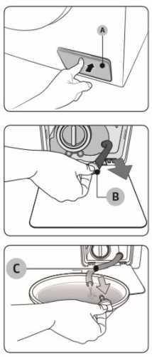 Lavadora de roupas Samsung - limpeza