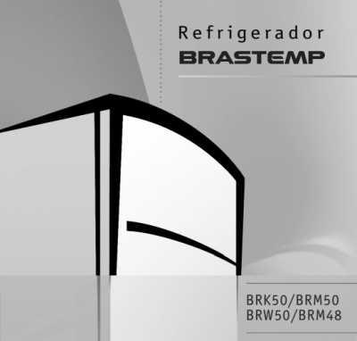 Capa manual Geladeira Brastemp