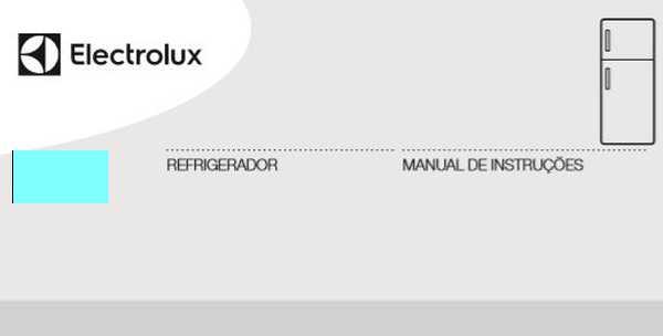 Geladeira Electrolux - capa manual