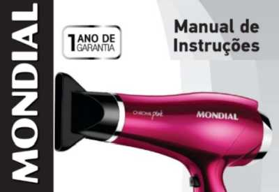 Secador de cabelos Mondial - capa manual