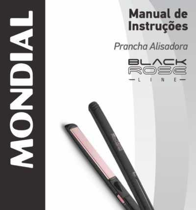 Prancha Alisadora Mondial - capa manual