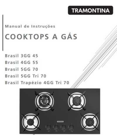Cooktop Tramontina - capa manual