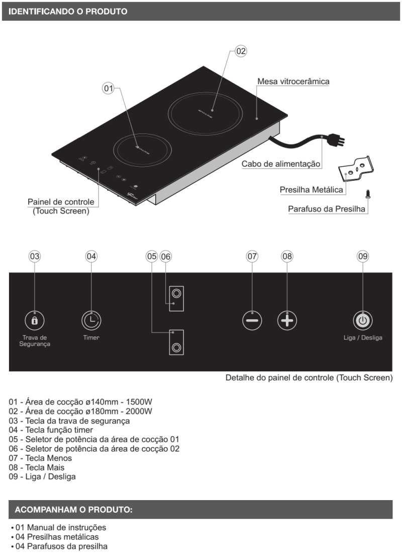 Cooktop de indução Fischer - conhecendo produto - 25941