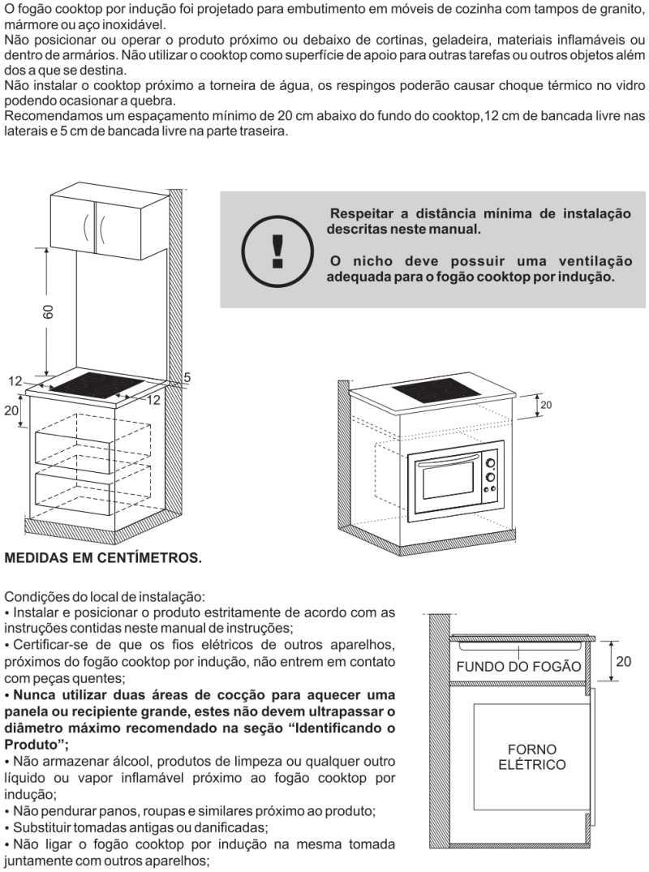 Cooktop de indução Fischer - instalação - 25943