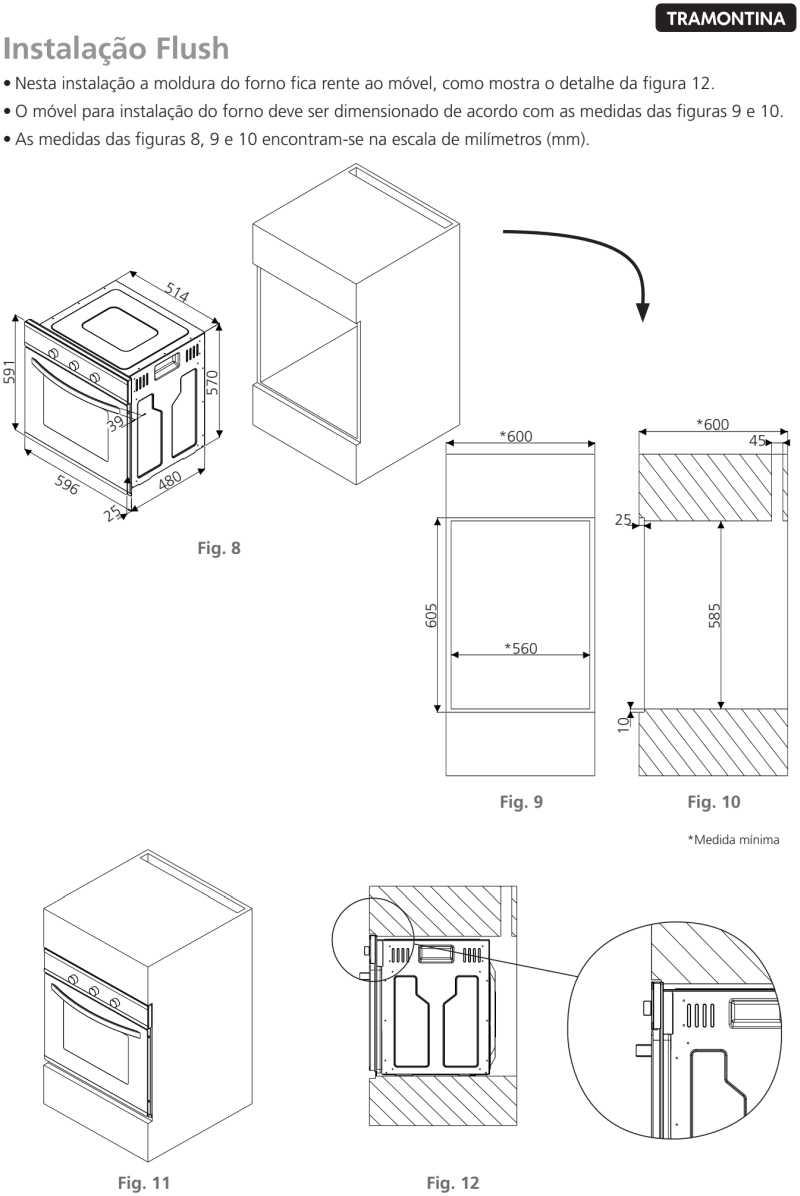 Forno elétrico Tramontina - instalação - 94865