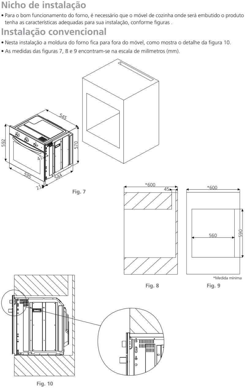 Forno elétrico Tramontina - instalação - 94866