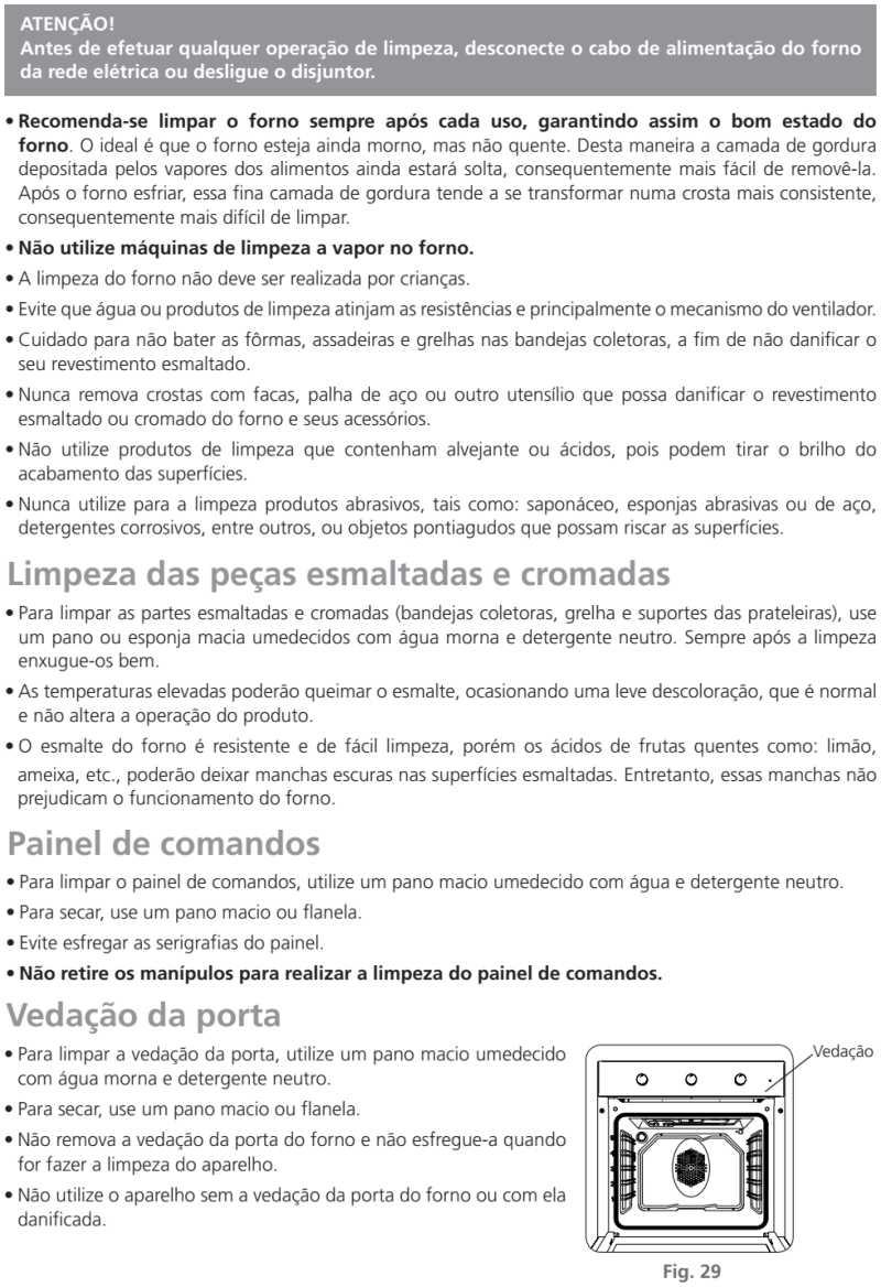 Forno elétrico Tramontina - como limpar - 94867