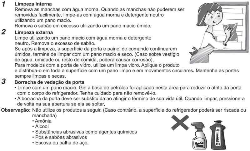 Geladeira Panasonic - limpeza e manutenção - NR-BB53