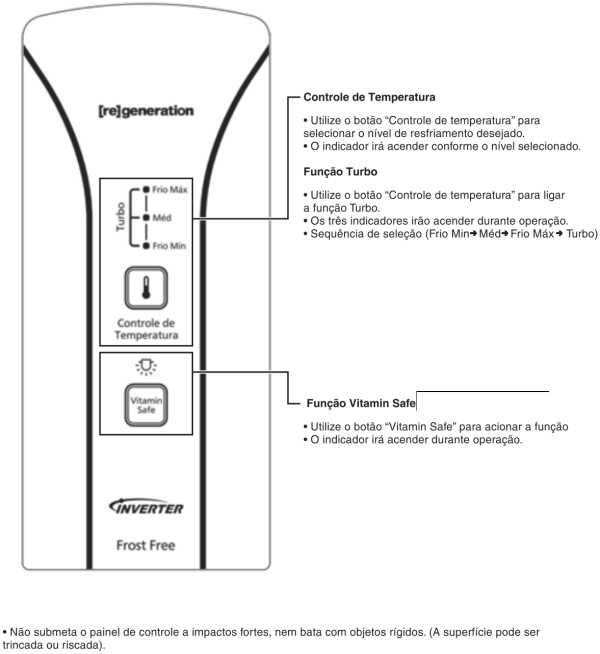 Conhecendo o painel de controle da Geladeira Panasonic - NR-BT42