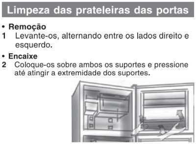 Geladeira Panasonic - limpeza e manutenção - NR-BT40