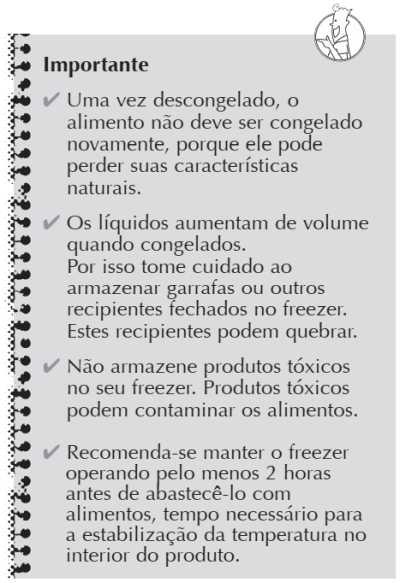 Freezer Consul - como usar - CVT10