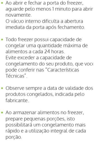 Freezer Consul - como usar - CVU20