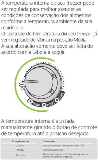 Freezer Consul - ajustando temperatura - CVU20