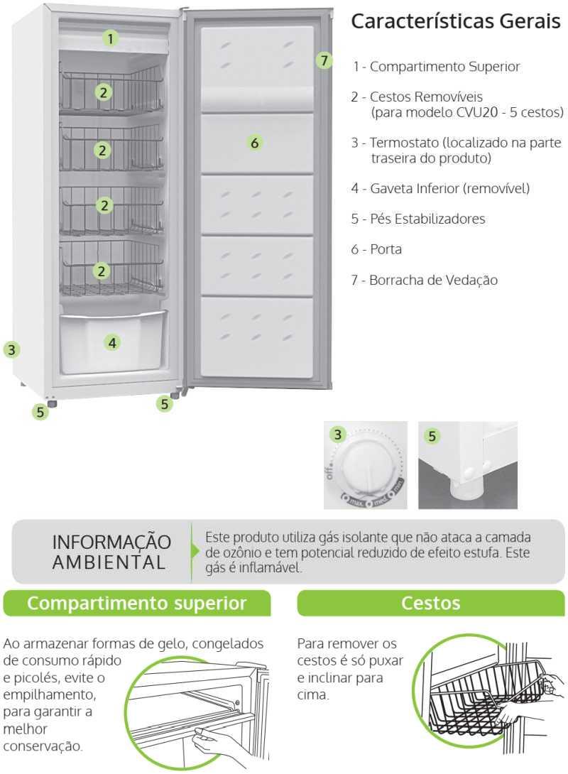 Freezer Consul - conhecendo o produto - CVU18