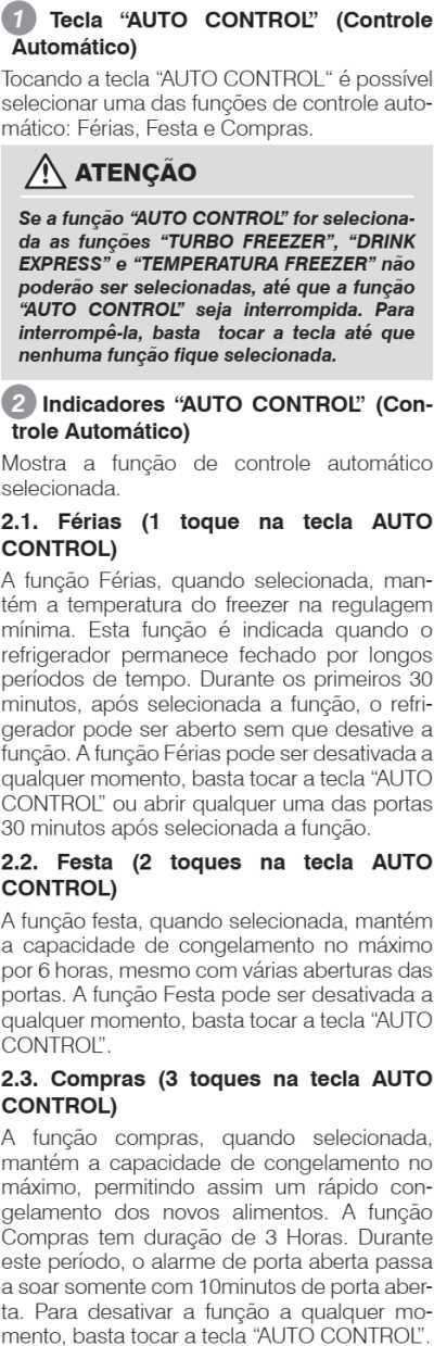 Geladeira Electrolux - conhecendo os componentes - painel de controle - funções DB83