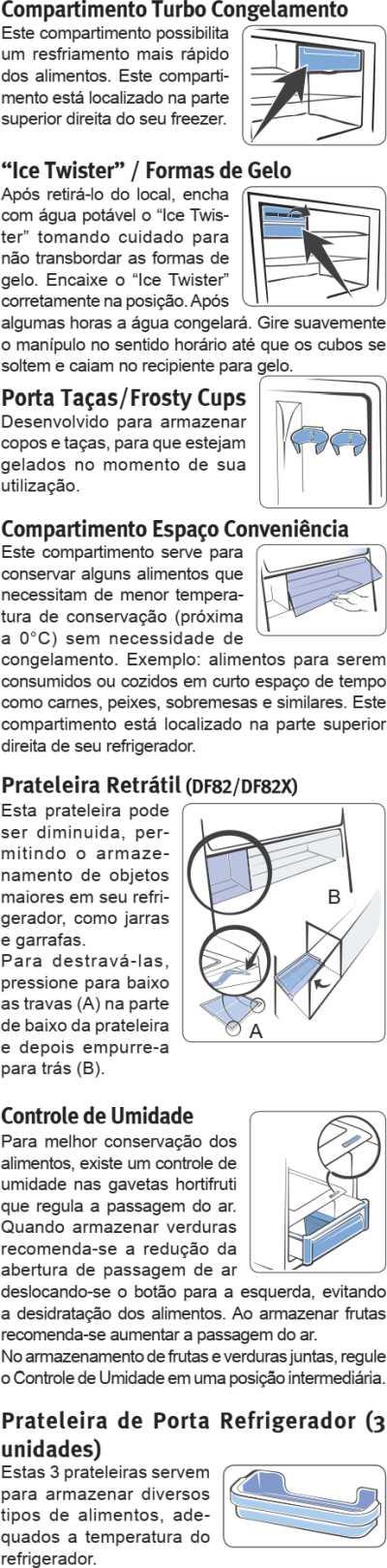 Geladeira Electrolux - conhecendo os componentes do DF82