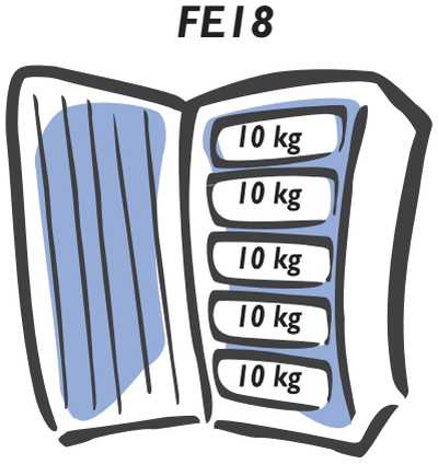 Freezer Electrolux - carga máxima do compartimento - FE18