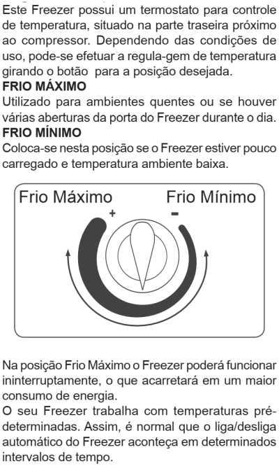 Freezer Electrolux - ajustando a temperatura - FE22