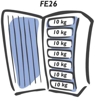 Freezer Electrolux - carga máxima do compartimento - FE26