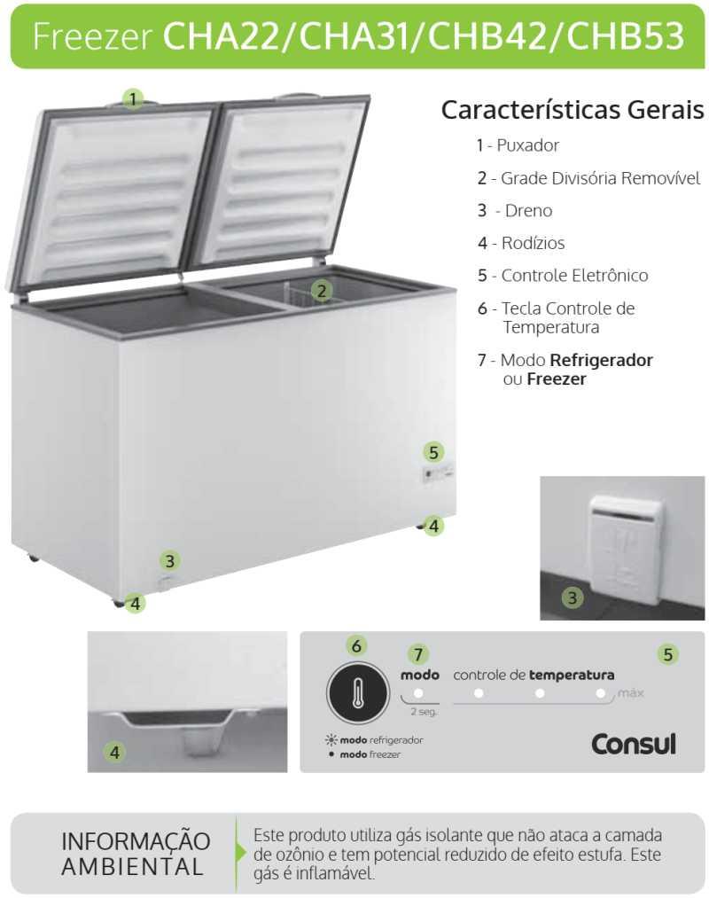 Freezer Consul - conhecendo o produto - CHA31
