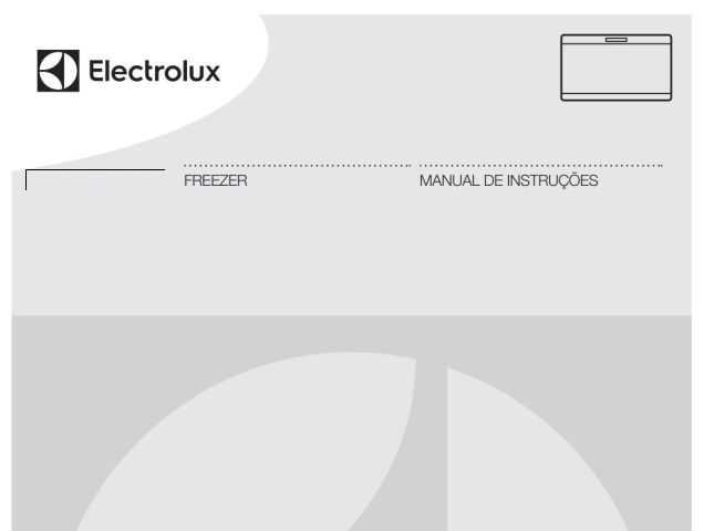 Freezer Electrolux - capa manual