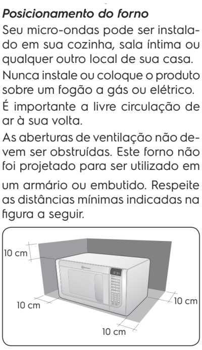 Microondas Electrolux MEG41 - instalando o produto