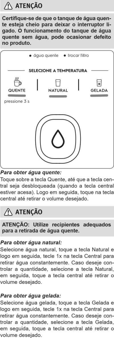 Purificador de água Electrolux - PH41X - como usar