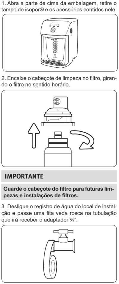 Purificador de água Electrolux - PH41X - como instalar