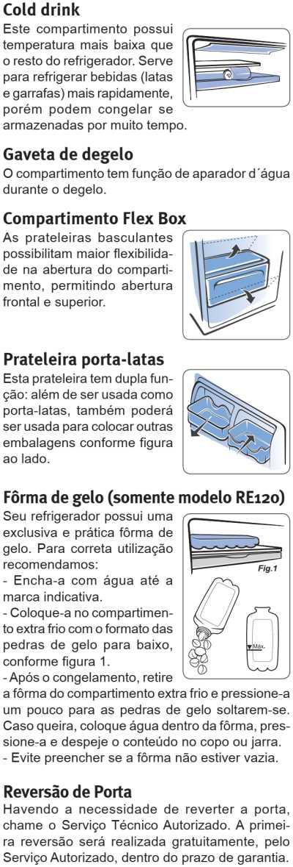 Frigobar Electrolux - conhecendo os compartimentos - RE80