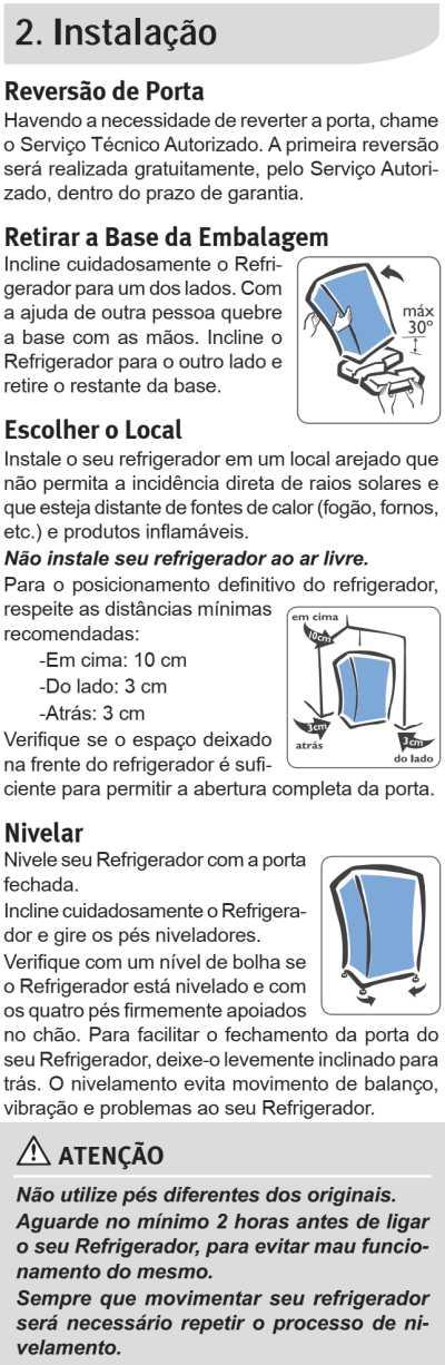 Frigobar Electrolux - instalação - RE80