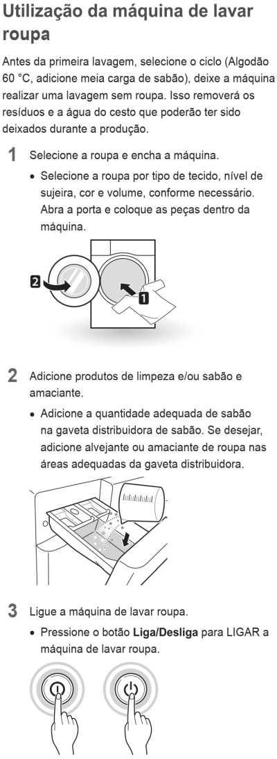Lava e seca LG 14 Kg - WD1014R - usando a máquina